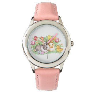 Spring Theme Easter Bunnies Watch