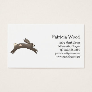 Spring Things · Grey Bunny with Heart Business Card