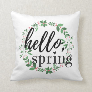 Spring Throw Pillow - Hello, Spring