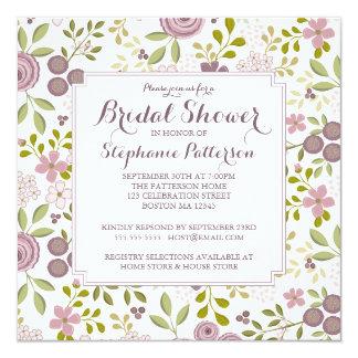Spring Time Floral Bridal Shower Invitation