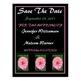 Spring Time Floral Save The Date Wedding Postcard