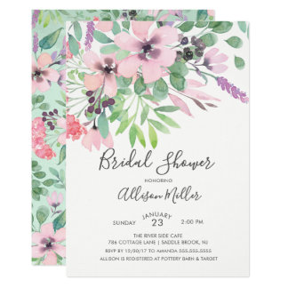 Spring Time Flowers Bridal Shower Invitation