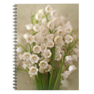 Spring Time Lilly Of The Valey Flowers Notebook