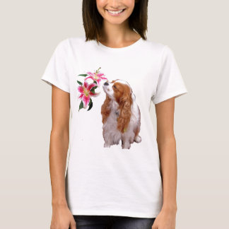 Spring time  with a Cavalier King Charles Spaniel T-Shirt