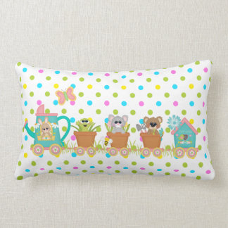 Spring Train Ride Animals Cute Baby Pillow