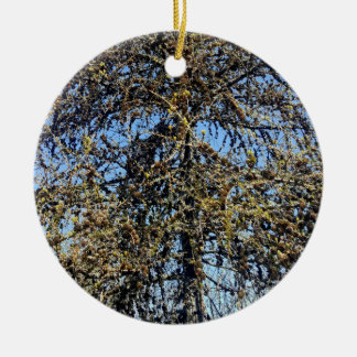 Spring tree ceramic ornament
