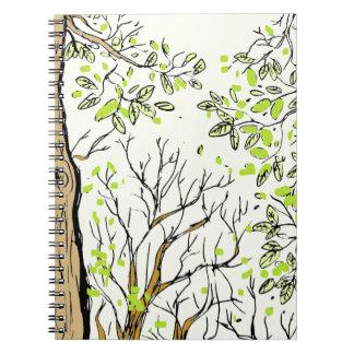 Spring tree image notebook
