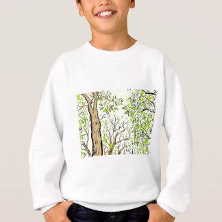 Spring tree image sweatshirt