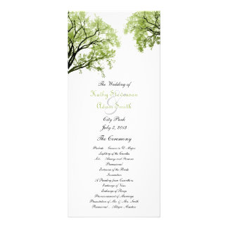 Spring Trees 2 Wedding Program Personalized Rack Card