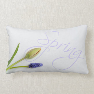 Spring Tulip Hyacinth Periwinkle Throw Pillow