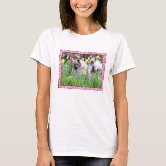 Spring Tulips Keeshond Tshirt