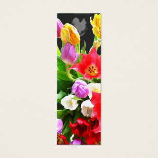 Spring Tulips Mini Business Card