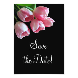 Spring Tulips Save the Date Announcement