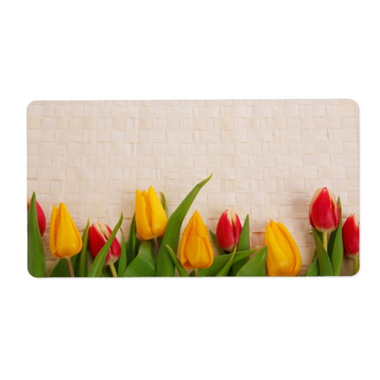 Spring Tulips Shipping Label