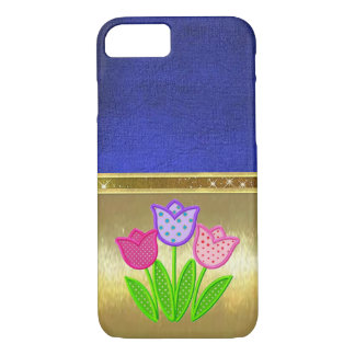 Spring Tulips Sparkle Gold Design Case