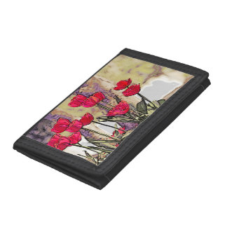 Spring Tulips Trifold Wallets