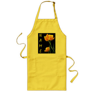 Spring Tulips With Any Name Apron