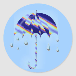 Spring Umbrella Classic Round Sticker
