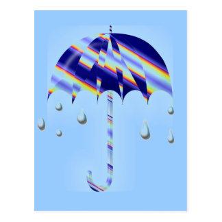 Spring Umbrella Postcard