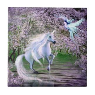 Spring Unicorn fantasy Tile