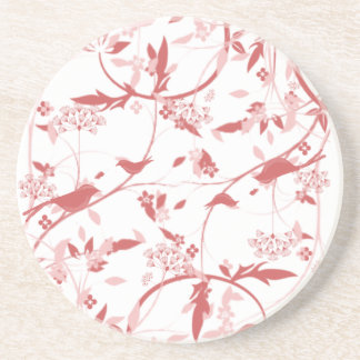 Spring Vines and Birds Companions Beverage Coaster