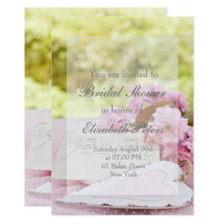 Spring vintage flower loveletter Bridal Shower Card
