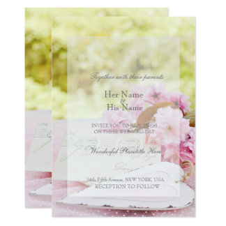 Spring vintage flower loveletter editable wedding card