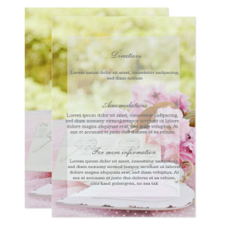 Spring vintage flower loveletter wedding Direction Card