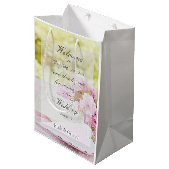 Spring vintage flower loveletter wedding medium gift bag