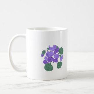 Spring viola flowers cup. coffee mug
