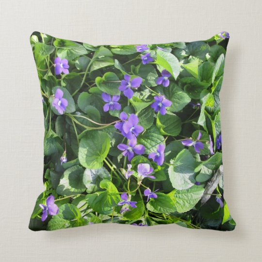 Spring violet pillow - Prairie Mile Series
