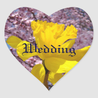 Spring Wedding Envelope Seals Daffodil Flowers Sticker