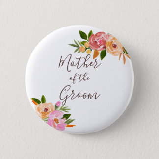 Spring Wedding flowers Mother of the Bride 2 Inch Round Button