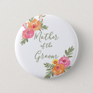 Spring Wedding flowers Mother of the Groom 2 Inch Round Button