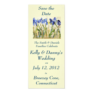 "Spring Wedding Save the Date 4"" X 9.25"" Invitation Card"