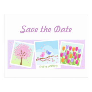 Spring Wedding Save the Date Postcards