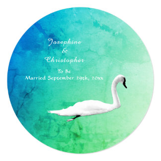 Spring Wedding with Swans Card