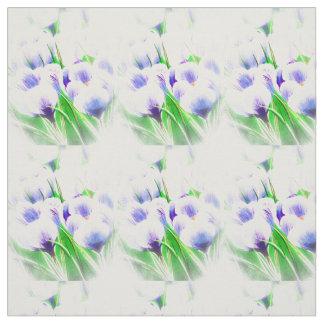 Spring White Crocus Fabric