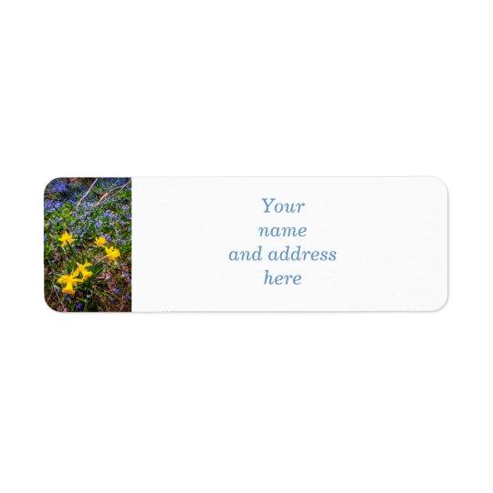 Spring wildflowers return address label