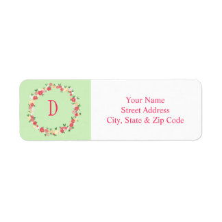 Spring Wreath Address Label
