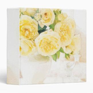Spring Yellow Bouquet Vinyl Binders
