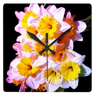 Spring Yellow Daffodil Wall Clock