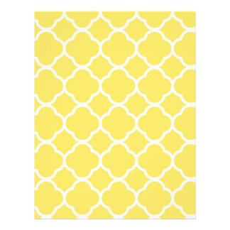 Spring Yellow Quatrefoil Customized Letterhead