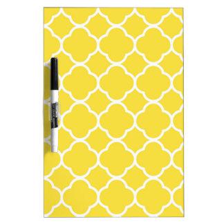 Spring Yellow Quatrefoil Dry-Erase Whiteboards