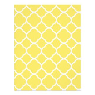 Spring Yellow Quatrefoil Letterhead