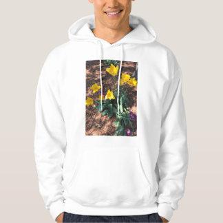 Spring yellow tulip type flowers hoodie