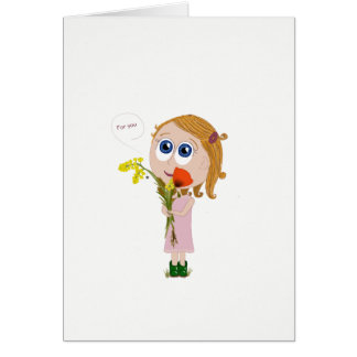 Springeding wish card - flowers for you
