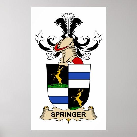 Springer Family Crest Poster