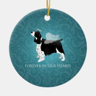 Springer Spaniel Angel Dog Pet Memorial Design Ceramic Ornament