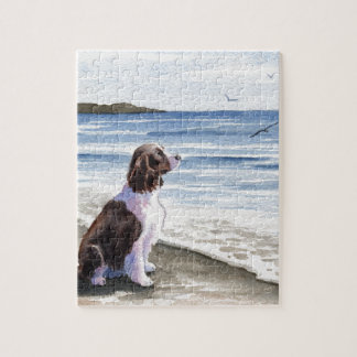 Springer Spaniel At The Beach Jigsaw Puzzle